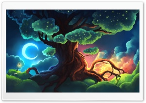 Magical Tree Fantasy Art HD Wide Wallpaper for 4K UHD Widescreen desktop & smartphone