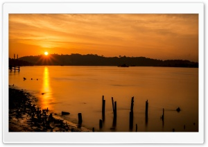 Mahakam River HD Wide Wallpaper for Widescreen