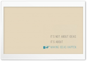 Making Ideas Happen HD Wide Wallpaper for Widescreen