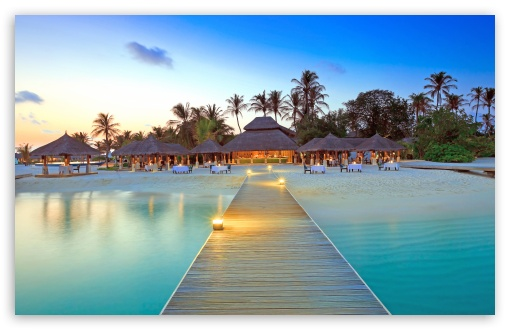 Download Maldive Islands Resort HD Wallpaper