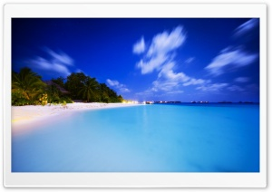 Maldives At Night HD Wide Wallpaper for Widescreen