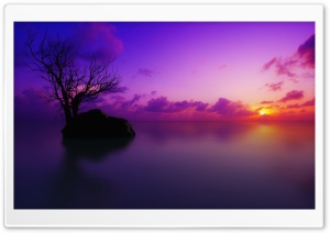 Maldivian Sunset HD Wide Wallpaper for Widescreen