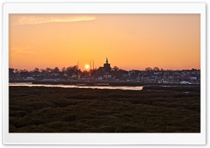 Maldon Sunset HD Wide Wallpaper for Widescreen