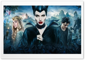 Maleficent, Aurora, Prince Philip - 2014 HD Wide Wallpaper for Widescreen