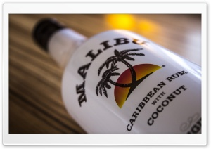 Malibu Bottle Close-Up HD Wide Wallpaper for Widescreen