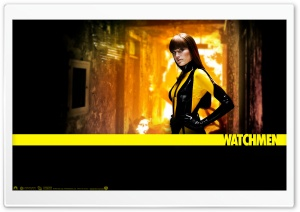 Malin Akerman As Silk Spectre In Watchmen HD Wide Wallpaper for Widescreen