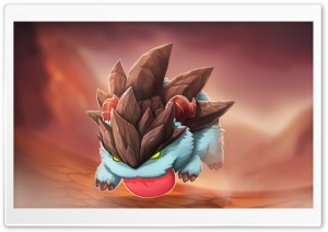 Malphite Poro HD Wide Wallpaper for Widescreen