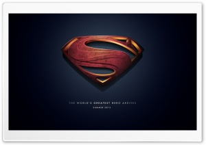 Man of Steel Logo HD Wide Wallpaper for 4K UHD Widescreen desktop & smartphone