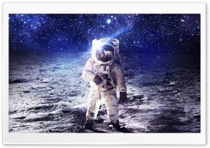 Man on the Moon HD Wide Wallpaper for 4K UHD Widescreen desktop & smartphone