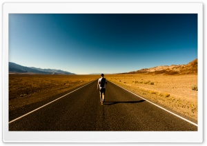 Man On The Road HD Wide Wallpaper for Widescreen