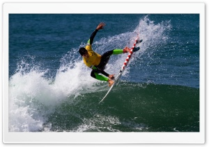 Man Surfing HD Wide Wallpaper for Widescreen