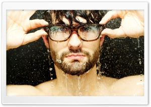 Man With Glasses HD Wide Wallpaper for Widescreen