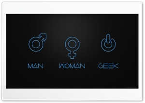 Man  Woman Geek HD Wide Wallpaper for Widescreen