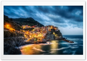 Manarola, Cinque Terre, Italy, Ligurian Sea HD Wide Wallpaper for Widescreen