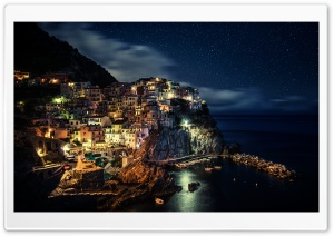 Manarola Town in Italy HD Wide Wallpaper for 4K UHD Widescreen desktop & smartphone