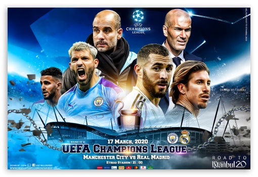 MANCHESTER CITY - REAL MADRID CHAMPIONS LEAGUE 2020 UltraHD Wallpaper for Standard 3:2 Fullscreen DVGA HVGA HQVGA ( Apple PowerBook G4 iPhone 4 3G 3GS iPod Touch ) ; Mobile 3:2 - DVGA HVGA HQVGA ( Apple PowerBook G4 iPhone 4 3G 3GS iPod Touch ) ;