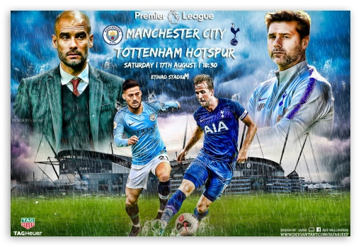 Manchester City Tottenham Hotspur Ultra Hd Desktop Background Wallpaper For