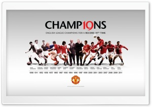 Manchester United Champions HD Wide Wallpaper for Widescreen