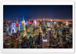 Manhattan Aerial View HD Wide Wallpaper for Widescreen