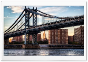 Manhattan Bridge HD Wide Wallpaper for 4K UHD Widescreen desktop & smartphone