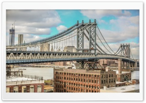 Manhattan Bridge Ultra HD Wallpaper for 4K UHD Widescreen desktop, tablet & smartphone