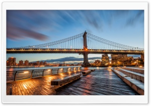 Manhattan Bridge Sunrise HD Wide Wallpaper for Widescreen
