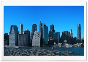 Manhattan Panoramic HD Wide Wallpaper for 4K UHD Widescreen desktop & smartphone