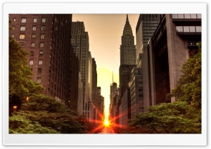 Manhattanhenge 2012 HD Wide Wallpaper for Widescreen