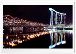 Marina Bay Sands At Night HD Wide Wallpaper for Widescreen