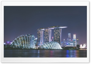 Marina Bay Sands Night Ultra HD Wallpaper for 4K UHD Widescreen desktop, tablet & smartphone