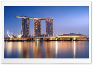 Marina Bay Sands Singapore HD Wide Wallpaper for Widescreen