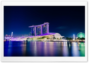 Marina Bay Sands Singapore iconic hotel Ultra HD Wallpaper for 4K UHD Widescreen desktop, tablet & smartphone