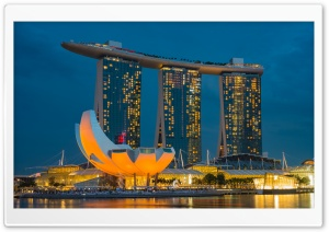 Marina Bay Sands Singapore luxury hotel and lifestyle destination Ultra HD Wallpaper for 4K UHD Widescreen desktop, tablet & smartphone
