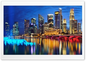 Marina Bay-Singapore HD Wide Wallpaper for Widescreen