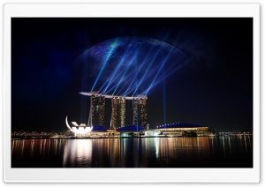 Marina Sands Hotel HD Wide Wallpaper for Widescreen