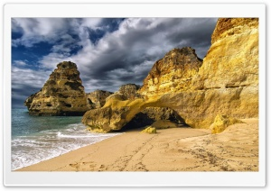 Marinha Beach Portugal HD Wide Wallpaper for Widescreen
