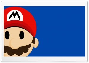 Mario Face HD Wide Wallpaper for Widescreen