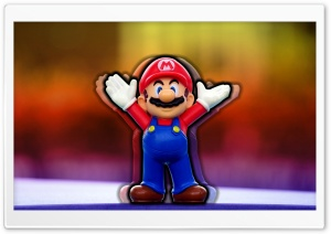 Mario Figure HD Wide Wallpaper for Widescreen