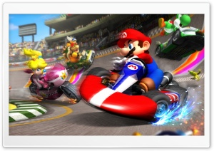 Mario kart HD Wide Wallpaper for 4K UHD Widescreen desktop & smartphone