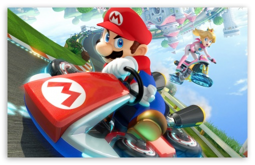 mario kart 8 2014 hd desktop wallpaper widescreen high