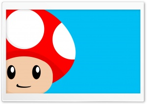 Mario Mushroom HD Wide Wallpaper for Widescreen
