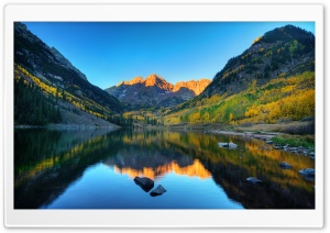 Maroon Bells Morning Ultra HD Wallpaper for 4K UHD Widescreen desktop, tablet & smartphone
