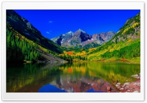 Maroon Bells Peak, Fall Colors, Colorado HD Wide Wallpaper for Widescreen