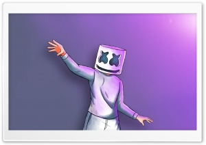 Marshmello Digital Painting HD Wide Wallpaper for 4K UHD Widescreen desktop & smartphone