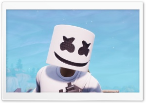 Marshmello Fortnite Battle Royale Ultra HD Wallpaper for 4K UHD Widescreen desktop, tablet & smartphone