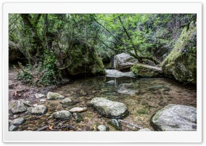 Martinet Creek Aiguafreda, Catalonia HD Wide Wallpaper for Widescreen