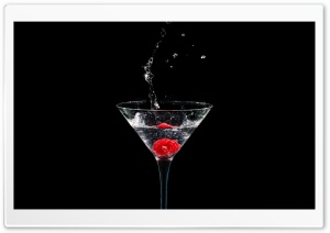 Martini Glass, Raspberry Splash HD Wide Wallpaper for 4K UHD Widescreen desktop & smartphone