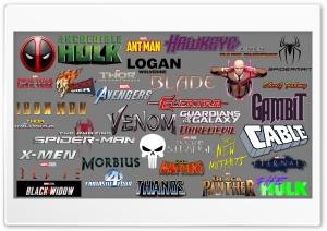 Marvel Logos Ultra HD Wallpaper for 4K UHD Widescreen desktop, tablet & smartphone