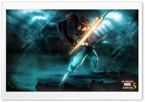 Marvel vs Capcom 3 - Strider Hiryu HD Wide Wallpaper for 4K UHD Widescreen desktop & smartphone