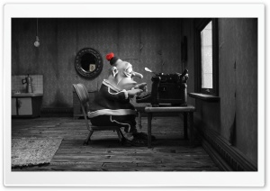 Mary And Max Man Typing HD Wide Wallpaper for Widescreen